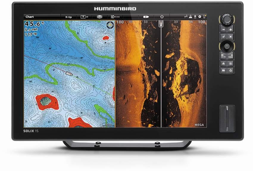 Humminbird Solix 15 Dual Spectrum Chirp, MDI+ GPS G2