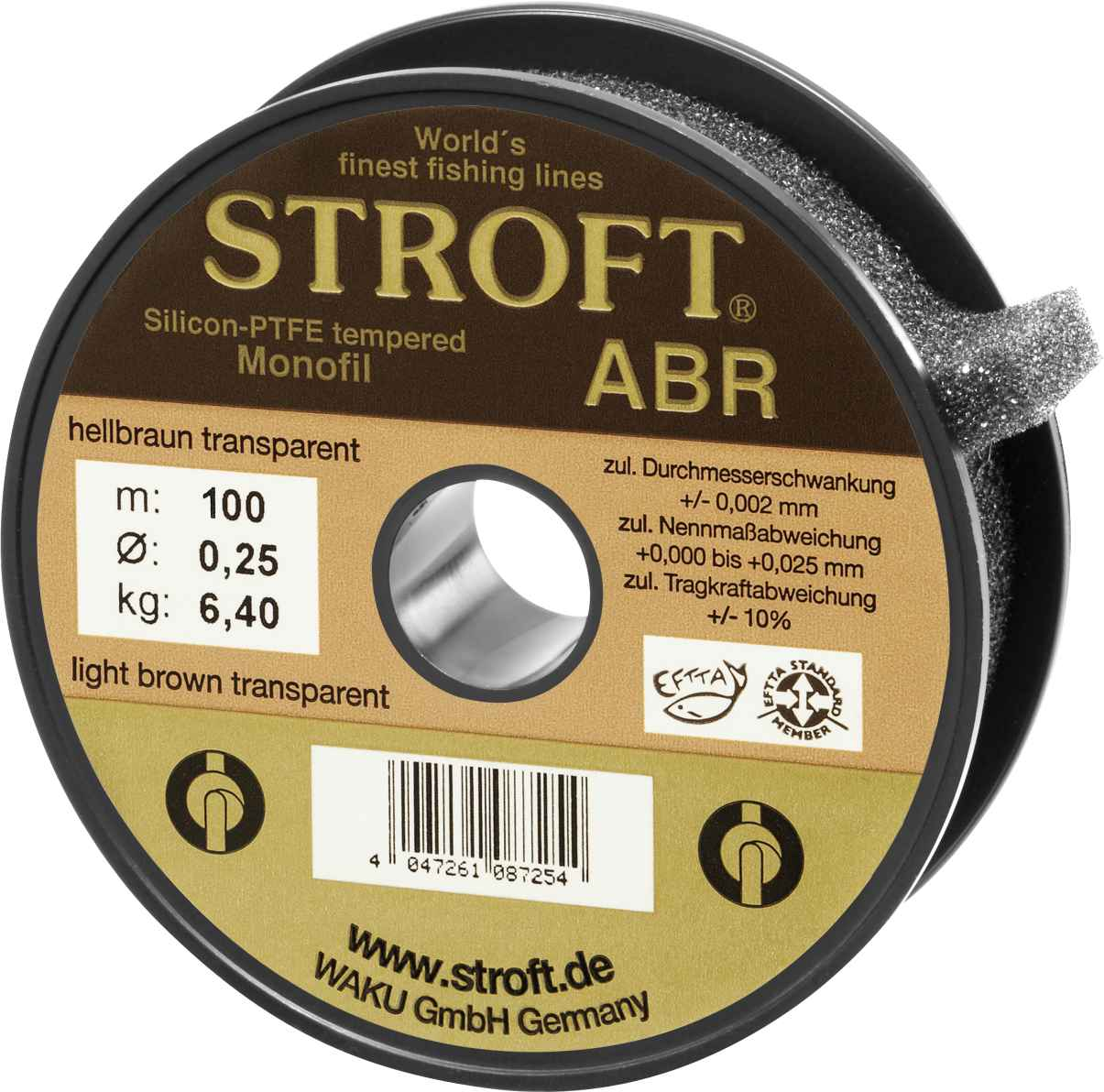 Light grey transparent Stroft LS 100m monofilament line