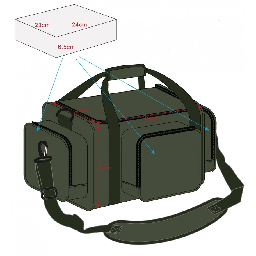 Pelzer Hold All Box Bag M,  42 x 32 x 28cm