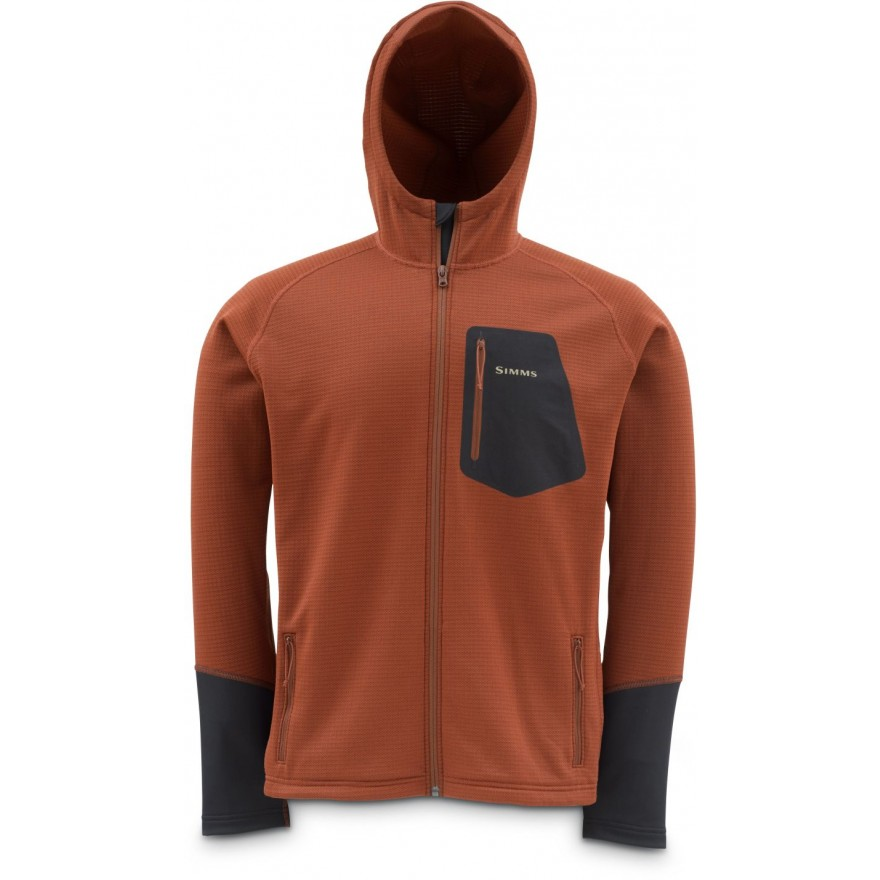 Simms Axis Hoody Simms Orange