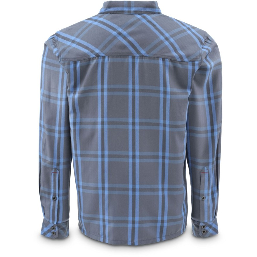 Simms Black's Ford Flannel Shirt Nightfall Plaid