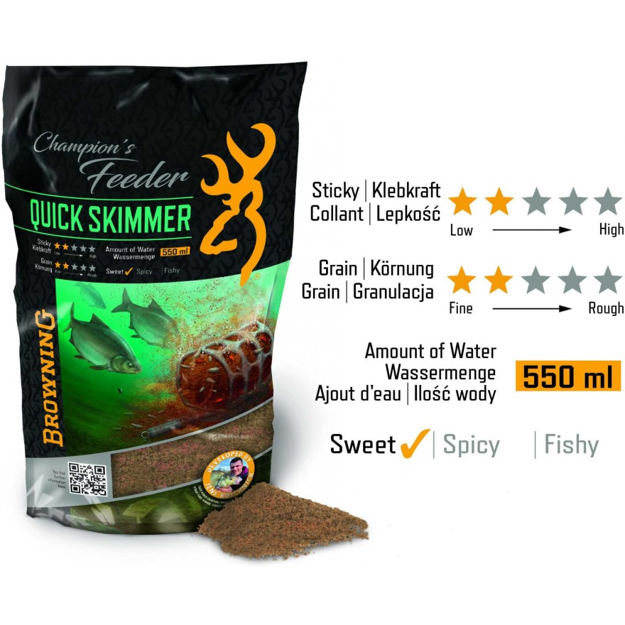 Browning Fishing Champions Feeder Mix Quick Skimmer 1kg