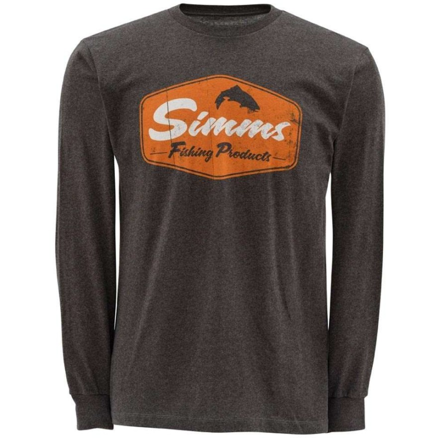Simms T-Shirt Fishing Products LS Gunmetal