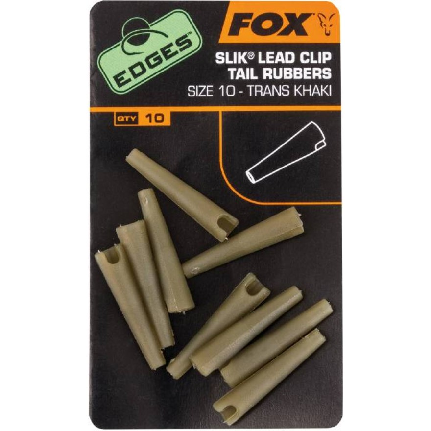 Fox Edge Slik Lead Clip Tail Rubber, Size 10