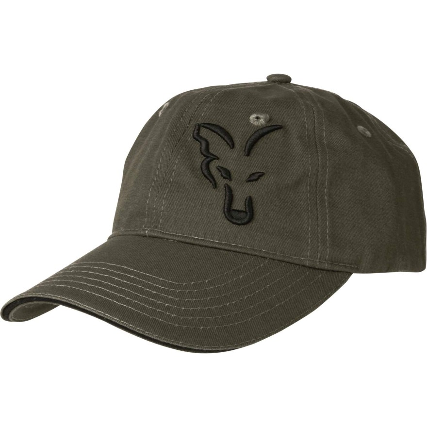 Fox Carp Green & Black Baseball Cap