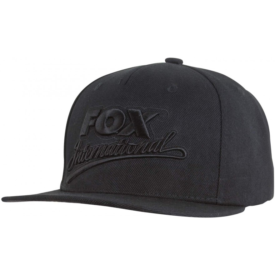 Fox Black Snapback Cap