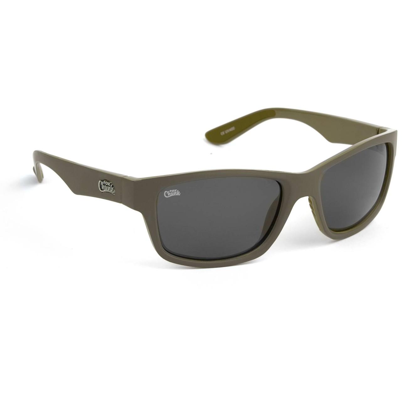 Fox Chunk Eyewear Khaki Fishing Polarised Sunglasses Grey Lenses