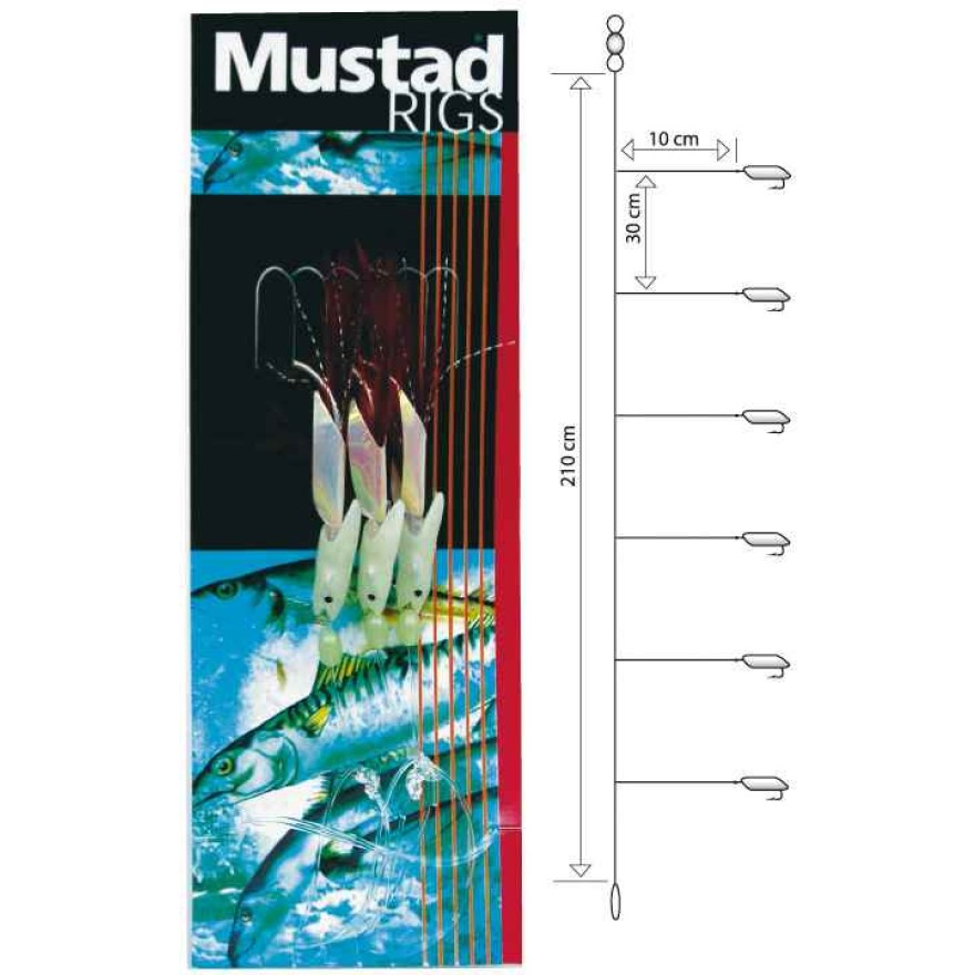 Mustad Fishskin Bi-color Rig 4