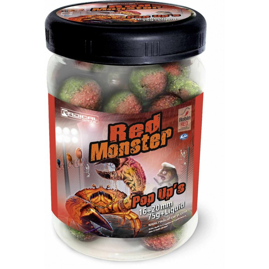 Quantum Radical Baits Red Monster Pop Ups 16/20mm 75g