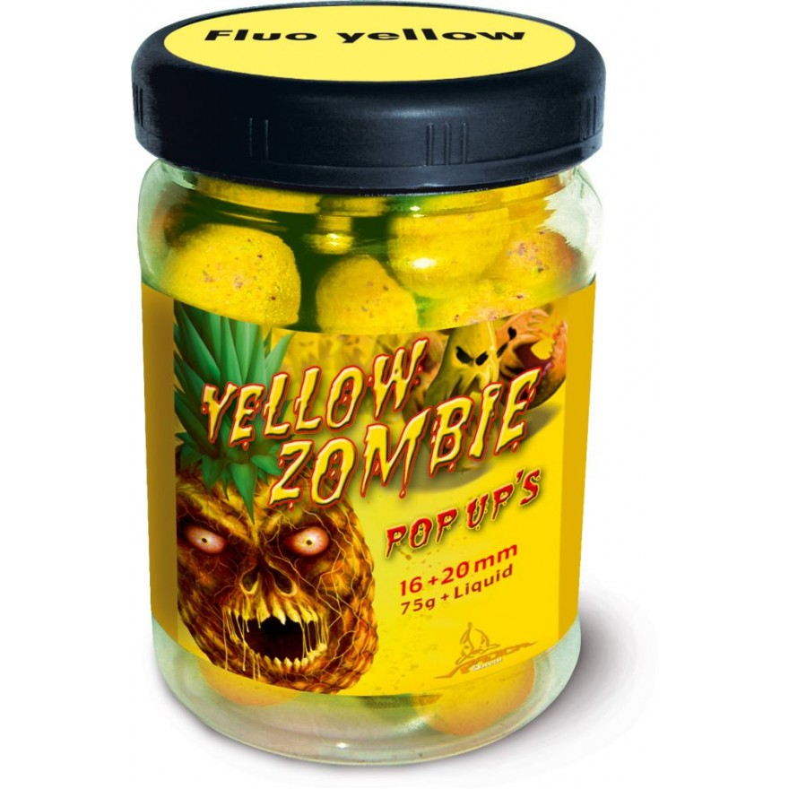 QUANTUM Yellow Zombie Neon Pop Up 75g, 16 & 20mm