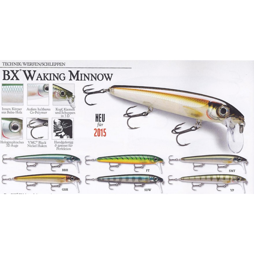 RAPALA BX WALKING MINNOW 13cm