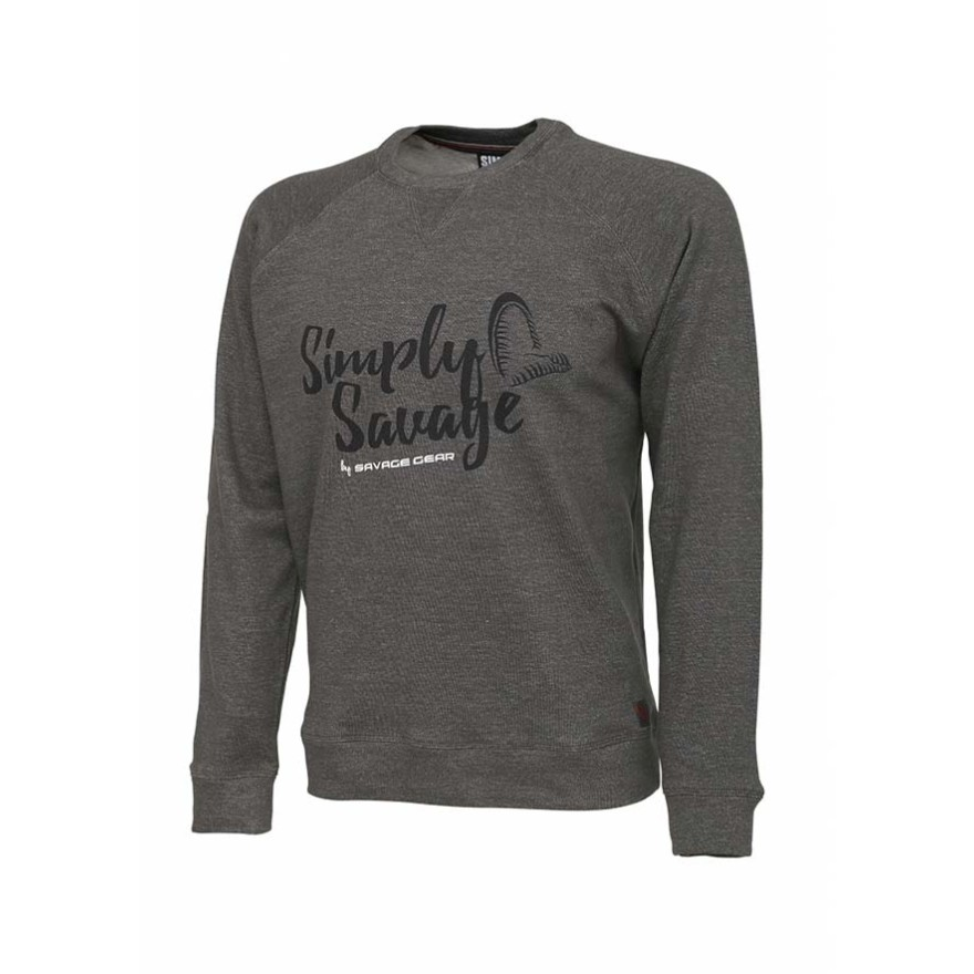 Savage Gear Simply Savage Sweater Melange Grey
