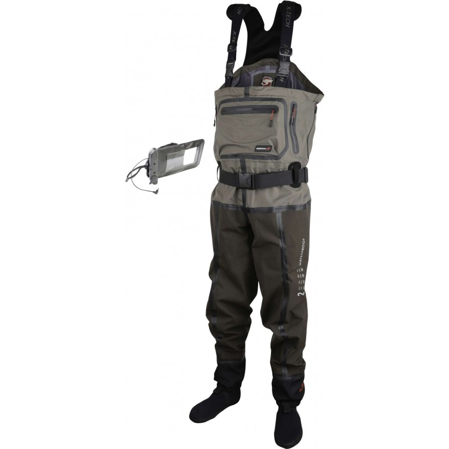 Scierra XTech 20000 Chest Wader Stock.Foot Khaki/Brown