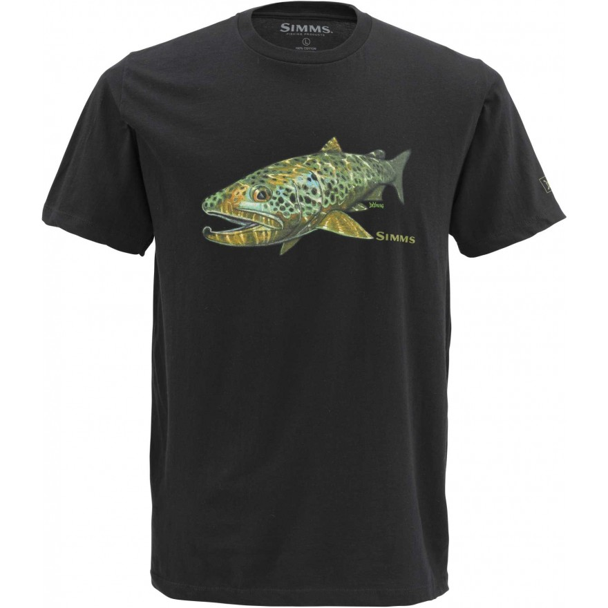 Simms Deyoung Brown Trout Black