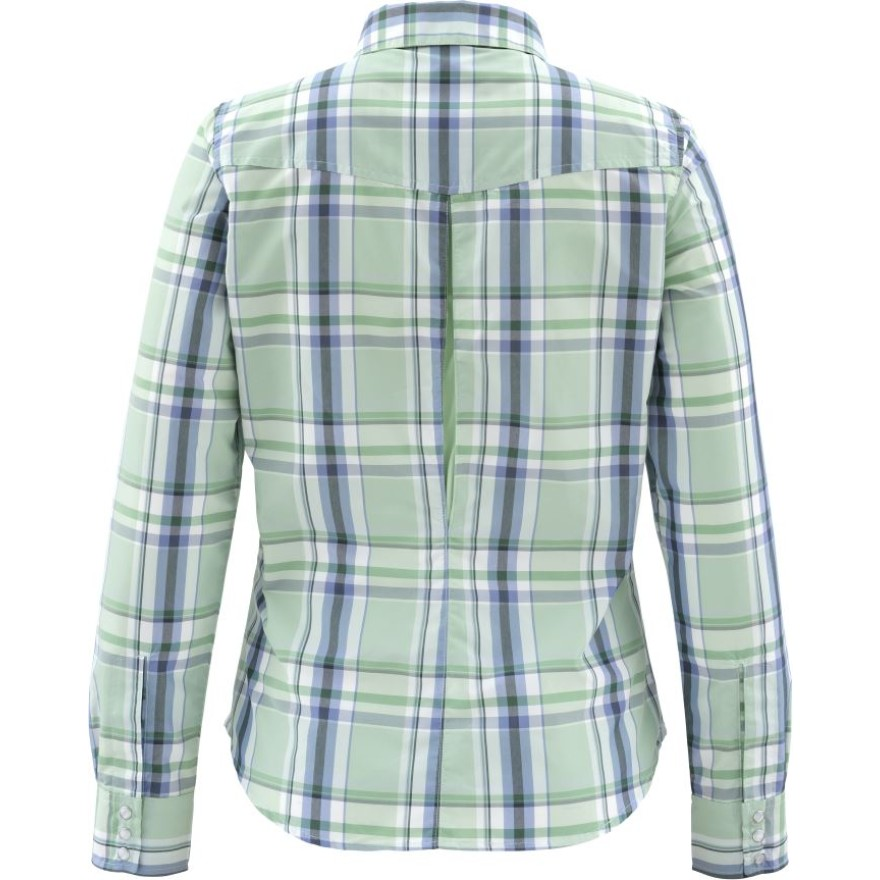 Simms Women's Big Sky Shirt Celery Plaid