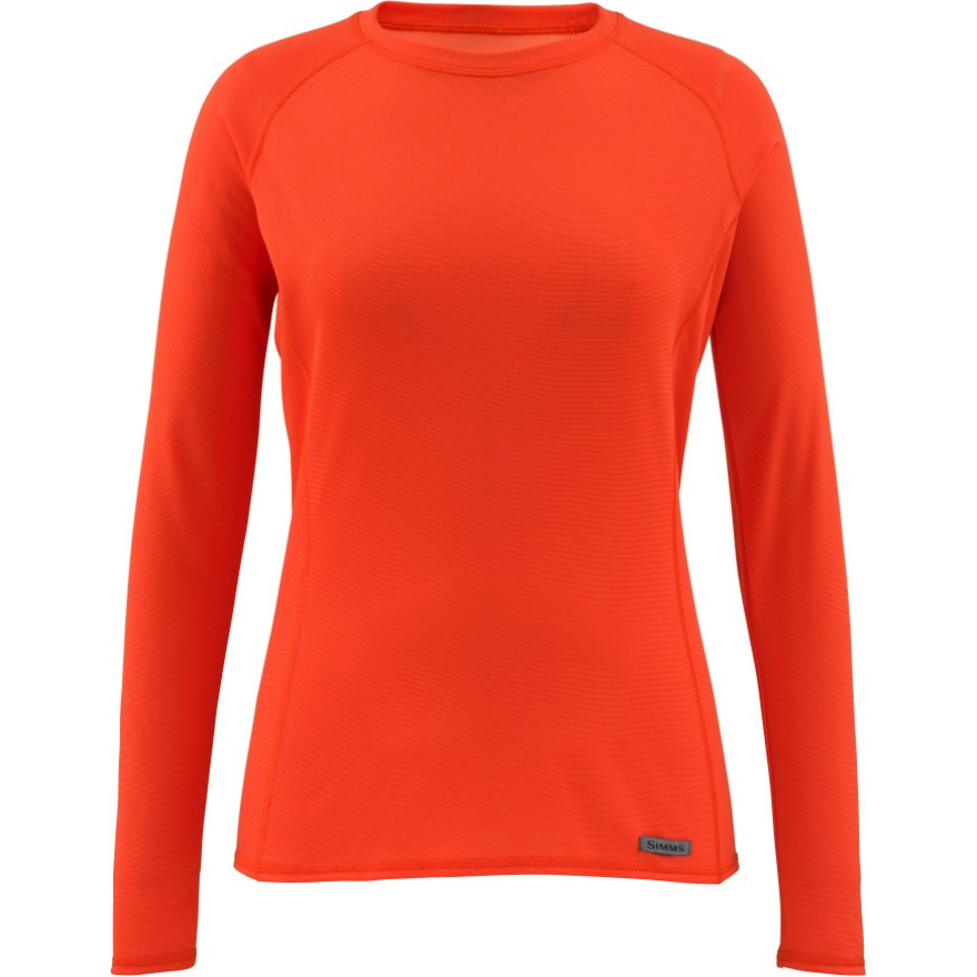 Simms Women's Waderwick Core Crewneck Poppy