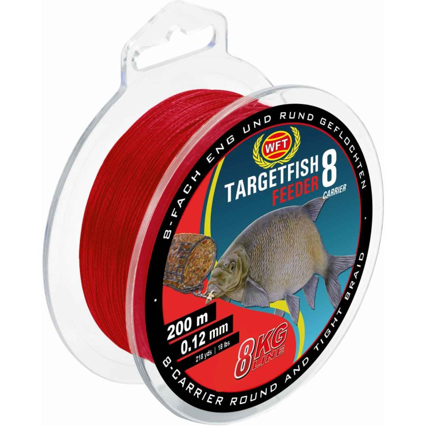 WFT TargetFish 8 Feeder Blood red 2000m 0.12mm 8kg