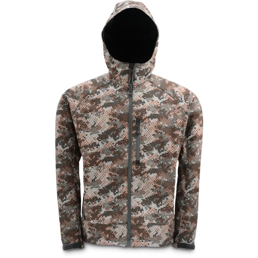 Simms Windstopper Hoody Catch Camo Orange