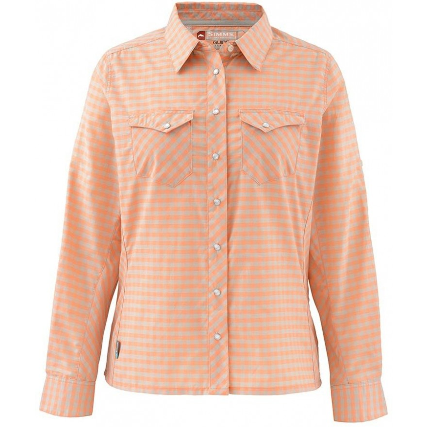 Simms Women's Big Sky Shirt Melon Plaid