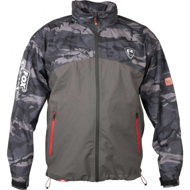 Angeljacke Jacke Winterjacke Fox Rage Rip Stop Quilted Jacket Camo//Grey