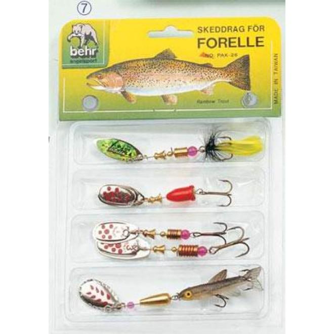 4er Blinker-Set Angelzubehör fishing spoon Spinner bait