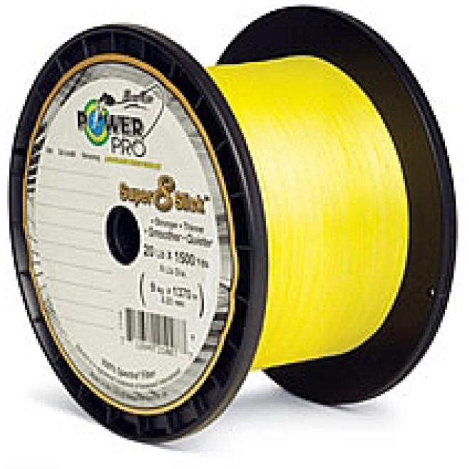 Power Pro Super 8 Slick 135m-Yellow-Braided Cord