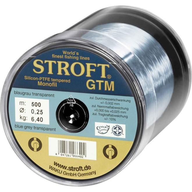 STROFT GTM 25 M Monofilament Fishing Line 0.03 MM to 0.375 MM Blue Grey Transparent