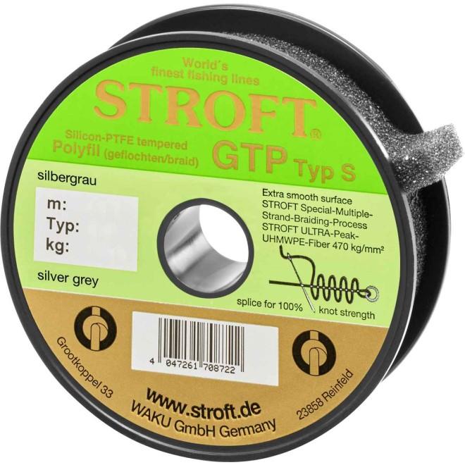 STROFT GTP S 125 m Silbergrau silver grey Geflochtene Angelschnur von S06 bis S7