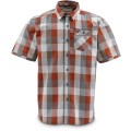 Simms Espirito Shirt Orange Block Plaid S
