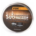 Fox Submerge Dark Camo Sinking Braid, 600m 0.16mm 25lbs