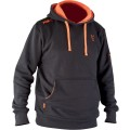 FOX Hoodie black-orange - S