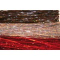 F+M Holografic Hair - 0,4mm - red