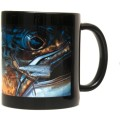 DeYoung Abstract Brown Chubby Mug - Black