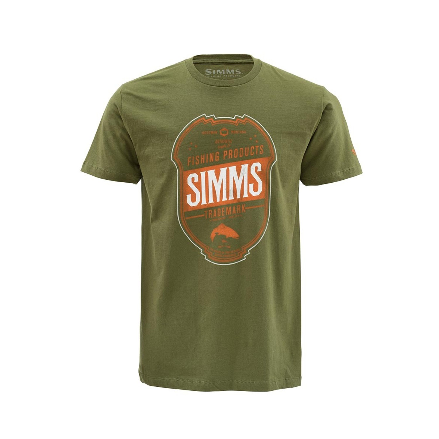 Simms T-Shirt Trademark Olive