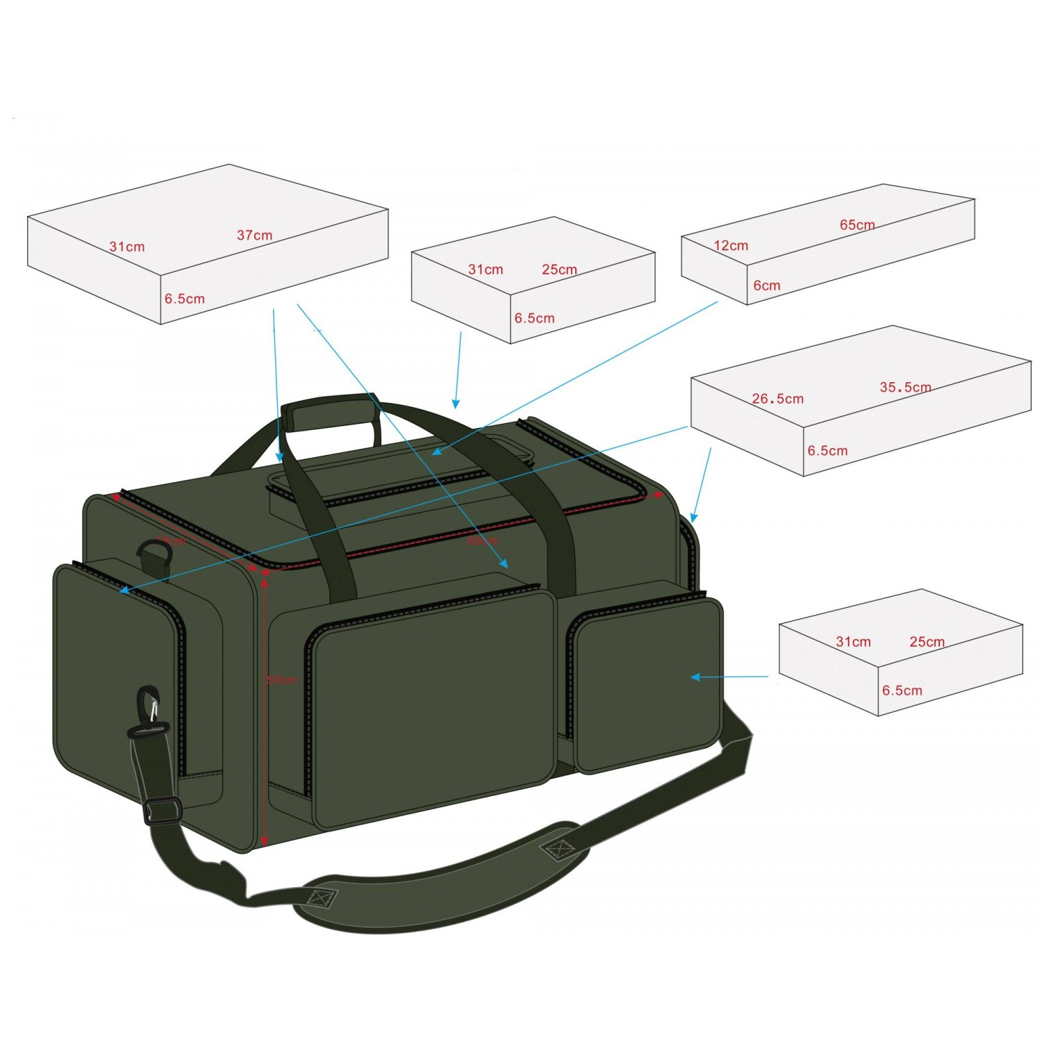 Pelzer Hold All Box Bag XXL, 80 x 50 x 38cm