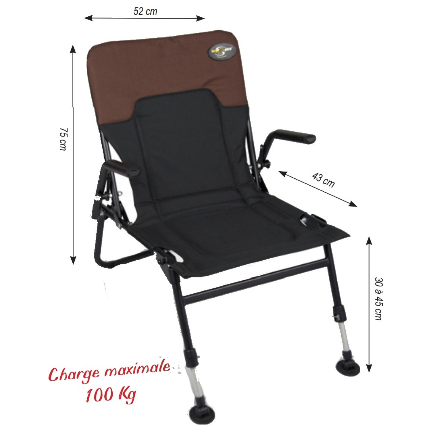 Carp Spirit Baroud Arm Chair