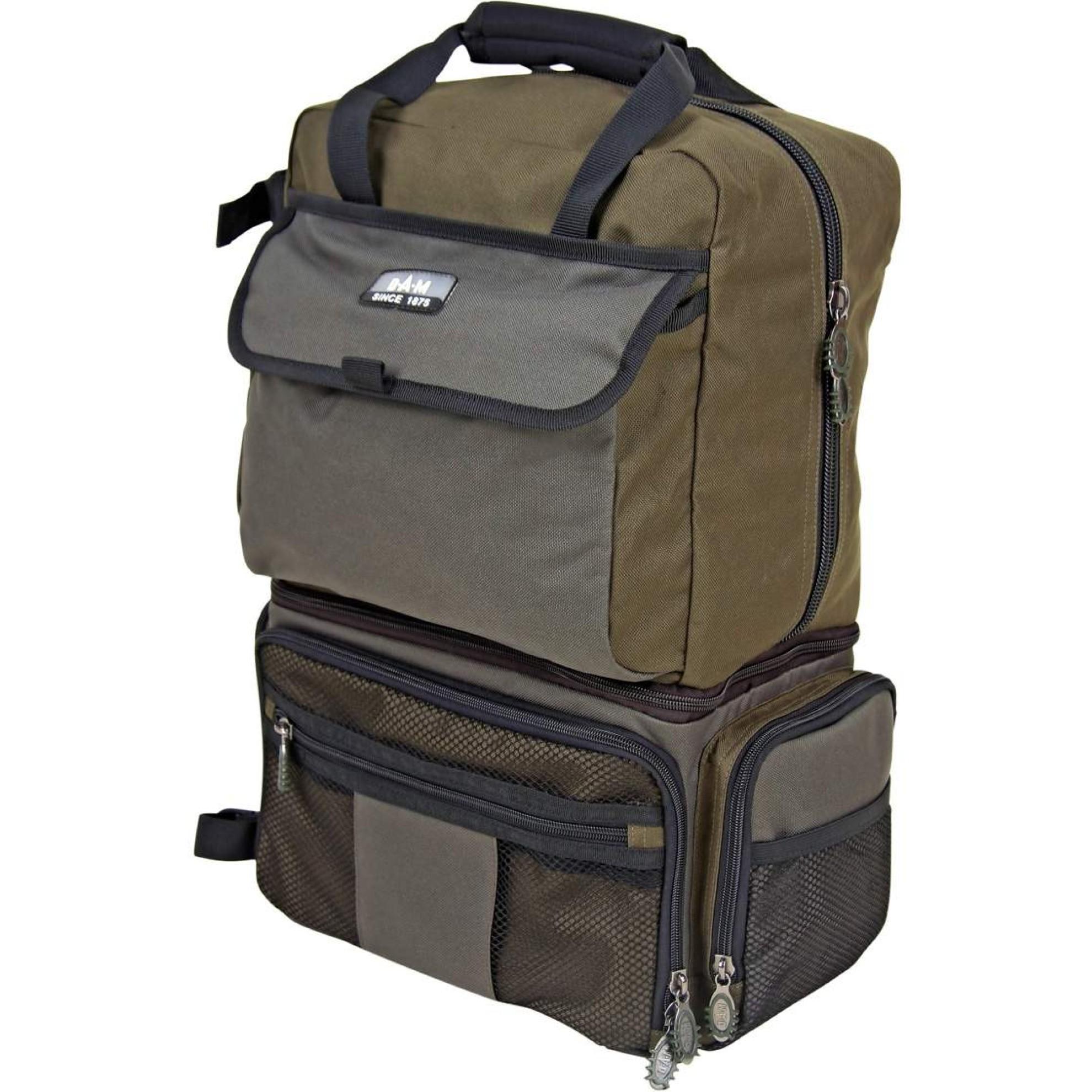 Köderboxen inkl Angel Rucksack // Tasche DAM Multi Back Pack