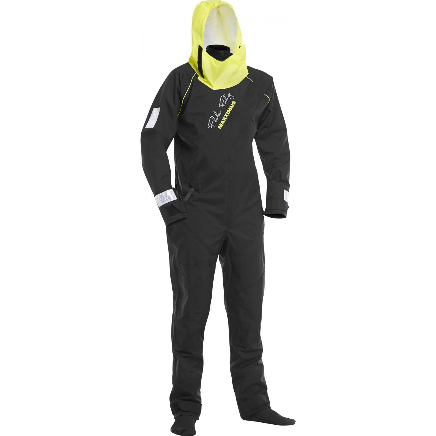 Warm Fladen Flotation Suit Waterproof  BLACK /& YELLOW Extra Extra Large XXL