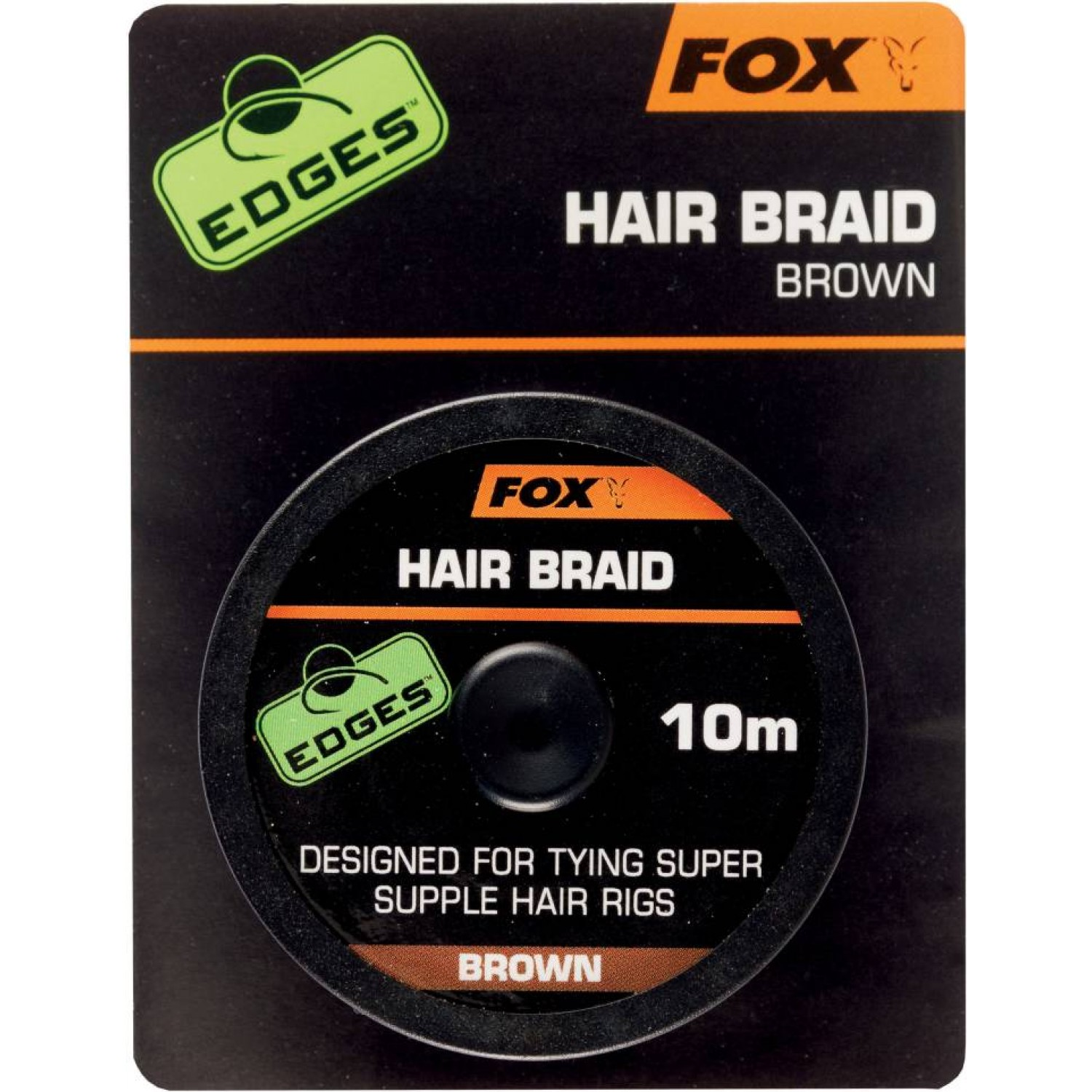 Fox Edges Hair Braid Brown, 10m