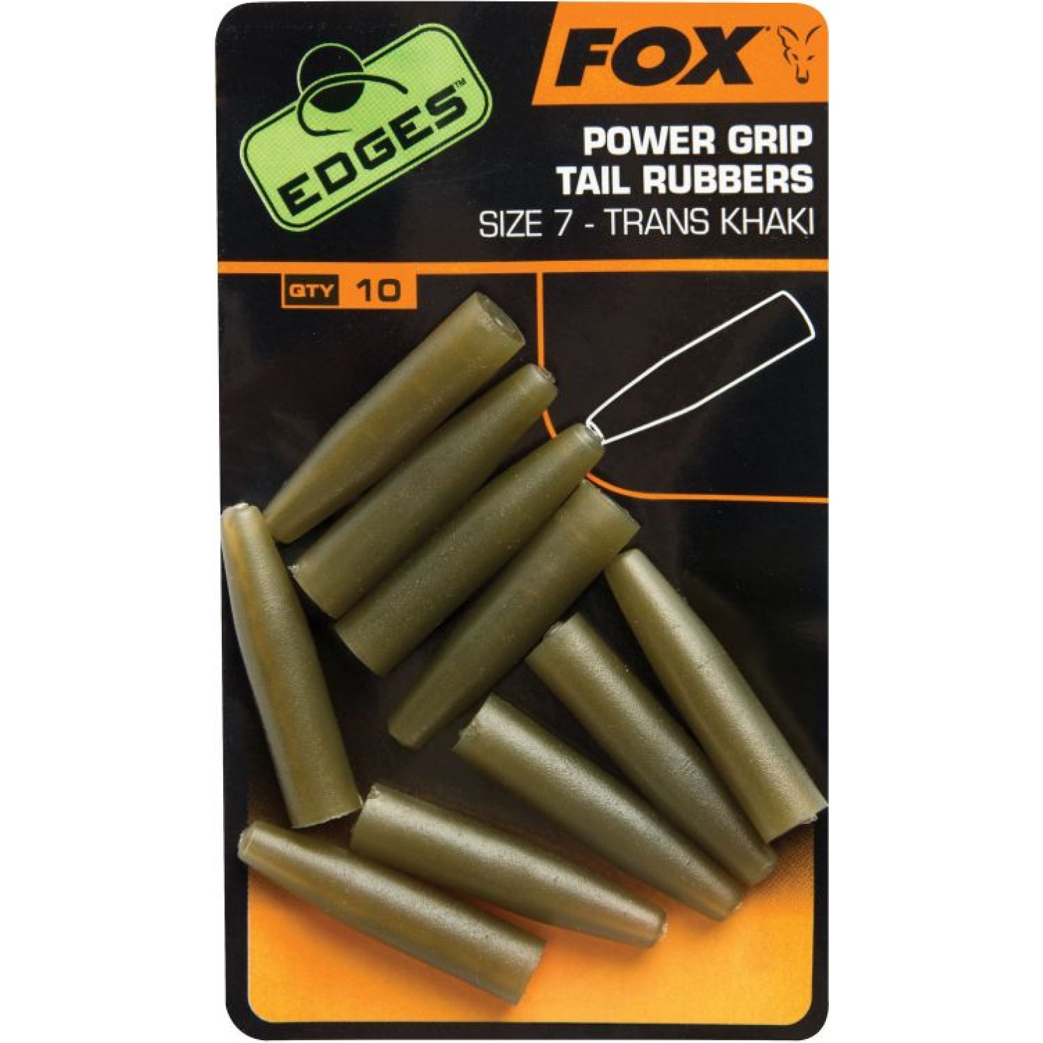 FOX Edges Powergrip Tail Rubbers, Size 7