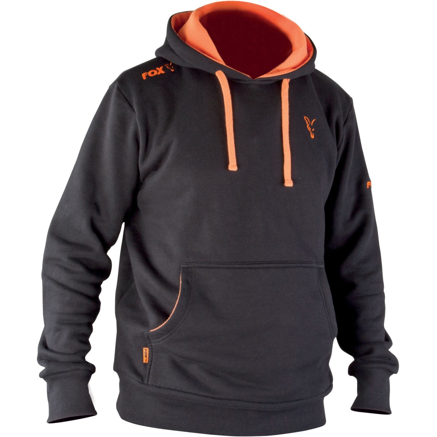 FOX Hoodie black-orange