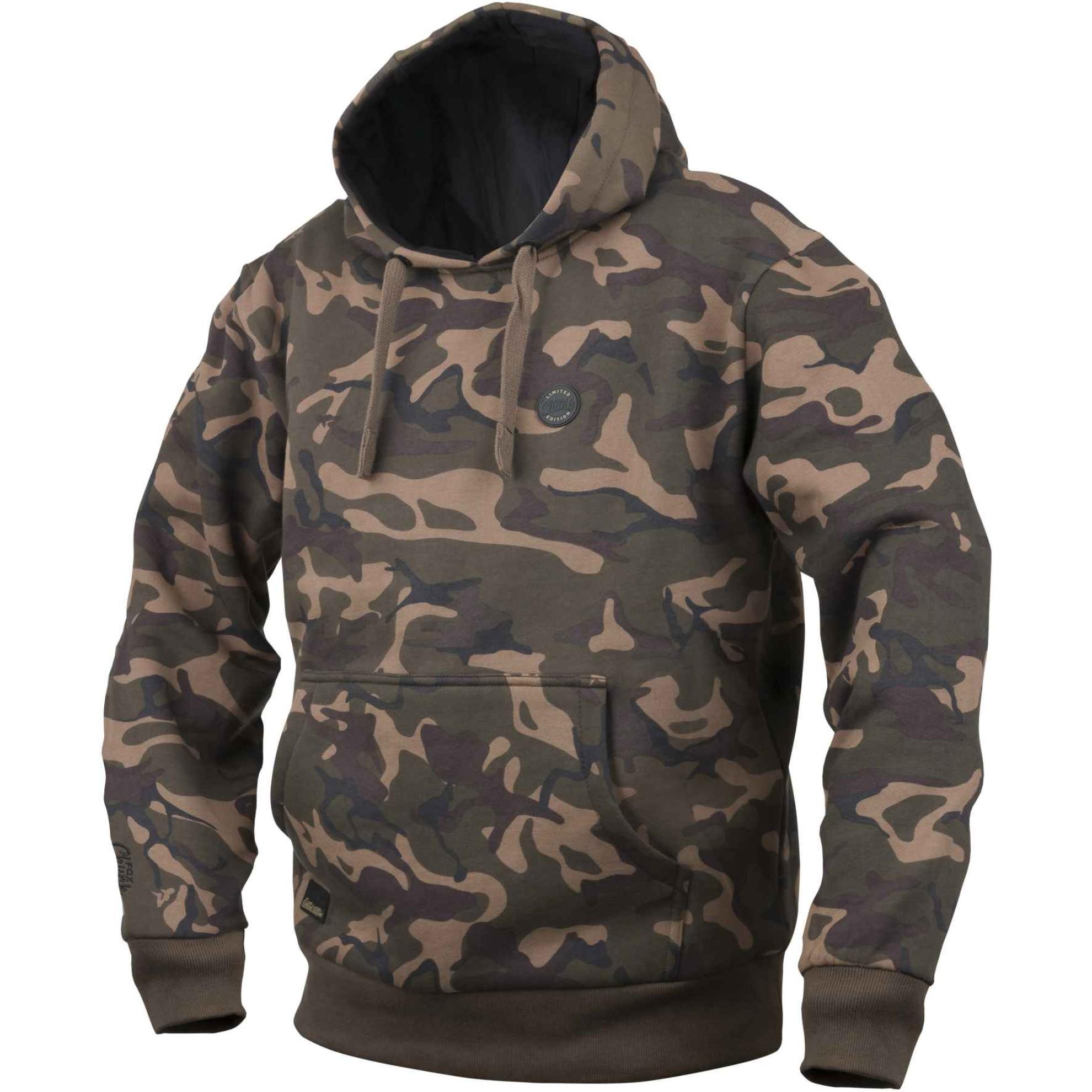 Bekleidung Angelsport Fox Gebürstete Baumwolle T-Shirt grün/schwarz