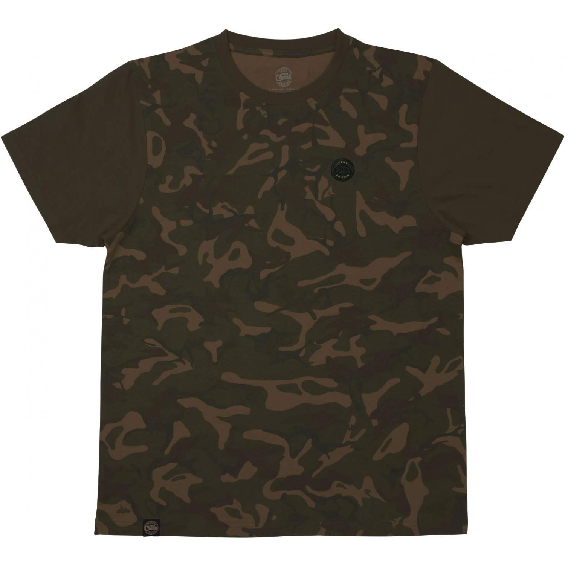 Chunk Classic T Shirt Orange Marl Fox Carp Fishing Clothing