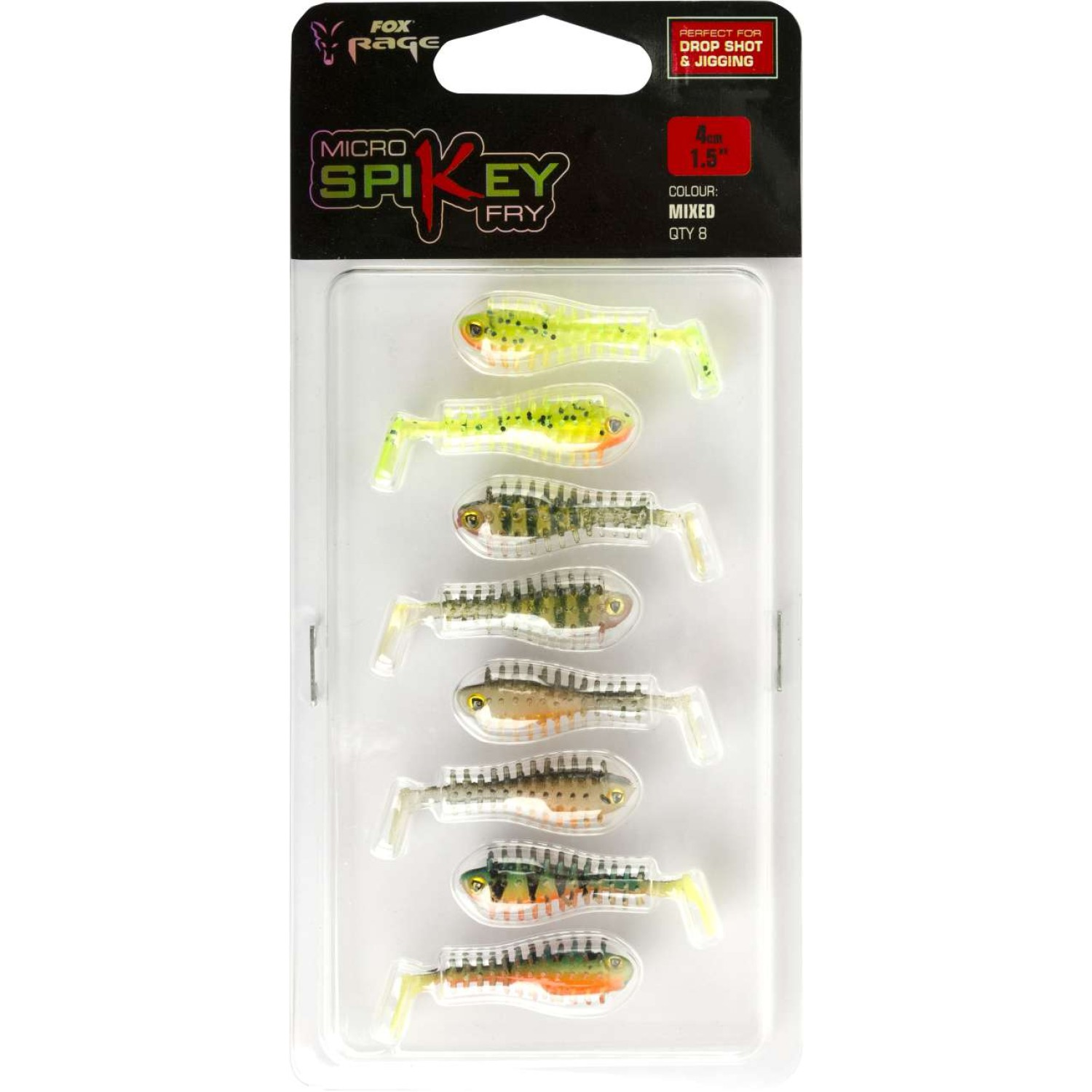 Fox Rage Micro Spikey Shads 4cm Mixed Colours