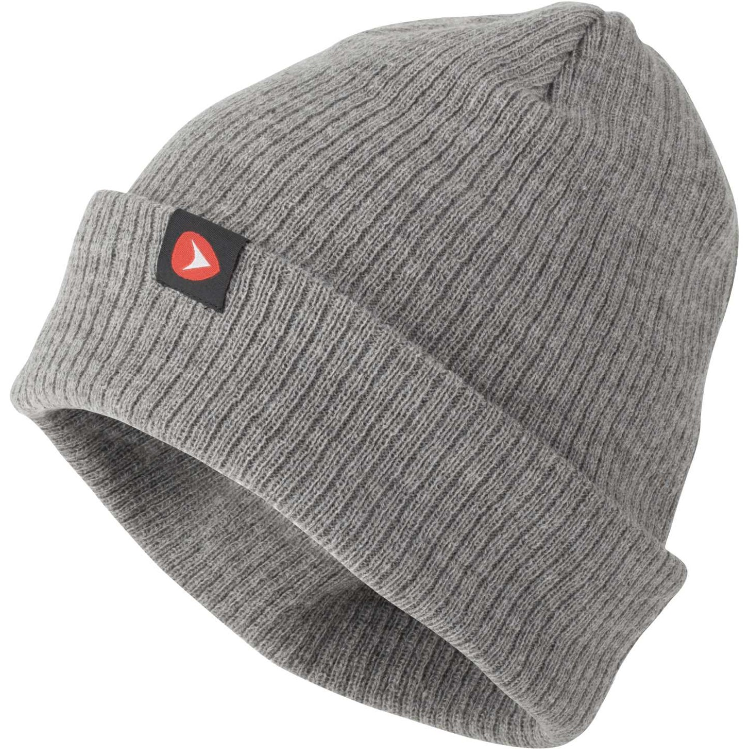 Greys Knitted Ribbed Beanie Grey