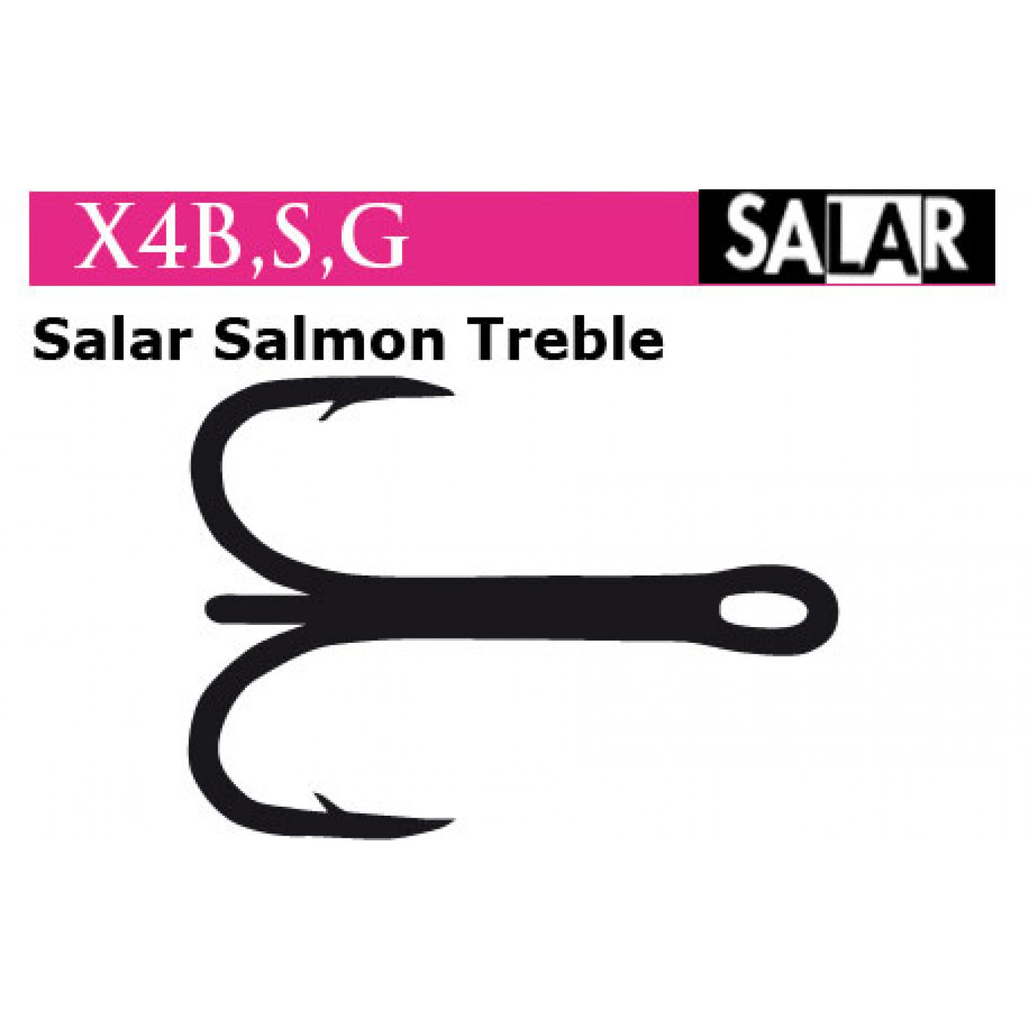 Partridge Fliegenhaken X4 - Solar Salmon Treble, gold