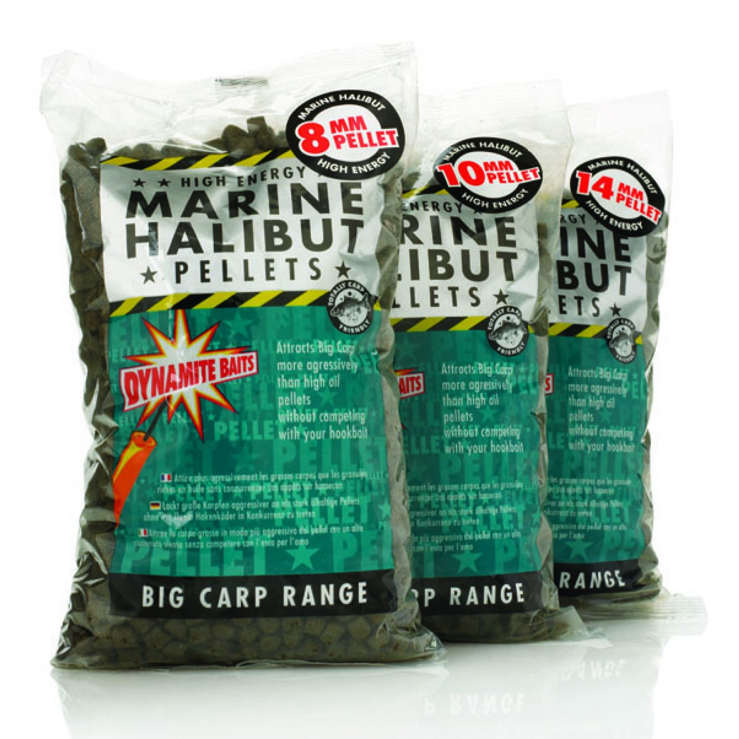 Dynamite Baits Pellets 900g, Marine Halibut 3-21mm