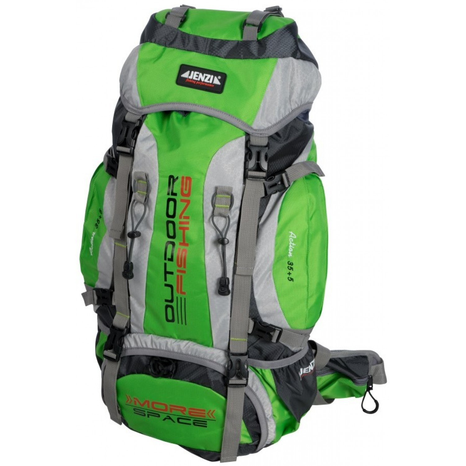 "Jenzi Outdoor/Fishing Backpack ""More Space Pro 35+5L"""