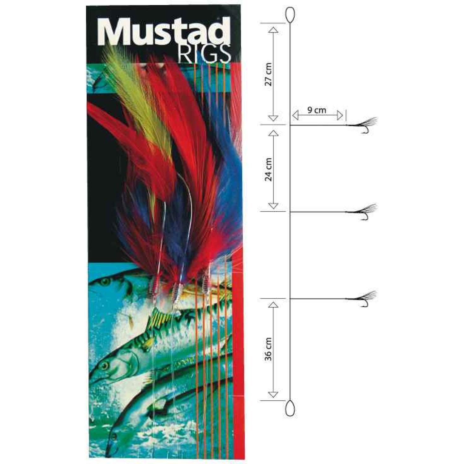 Mustad Col. Cod Feather Trace 6/0