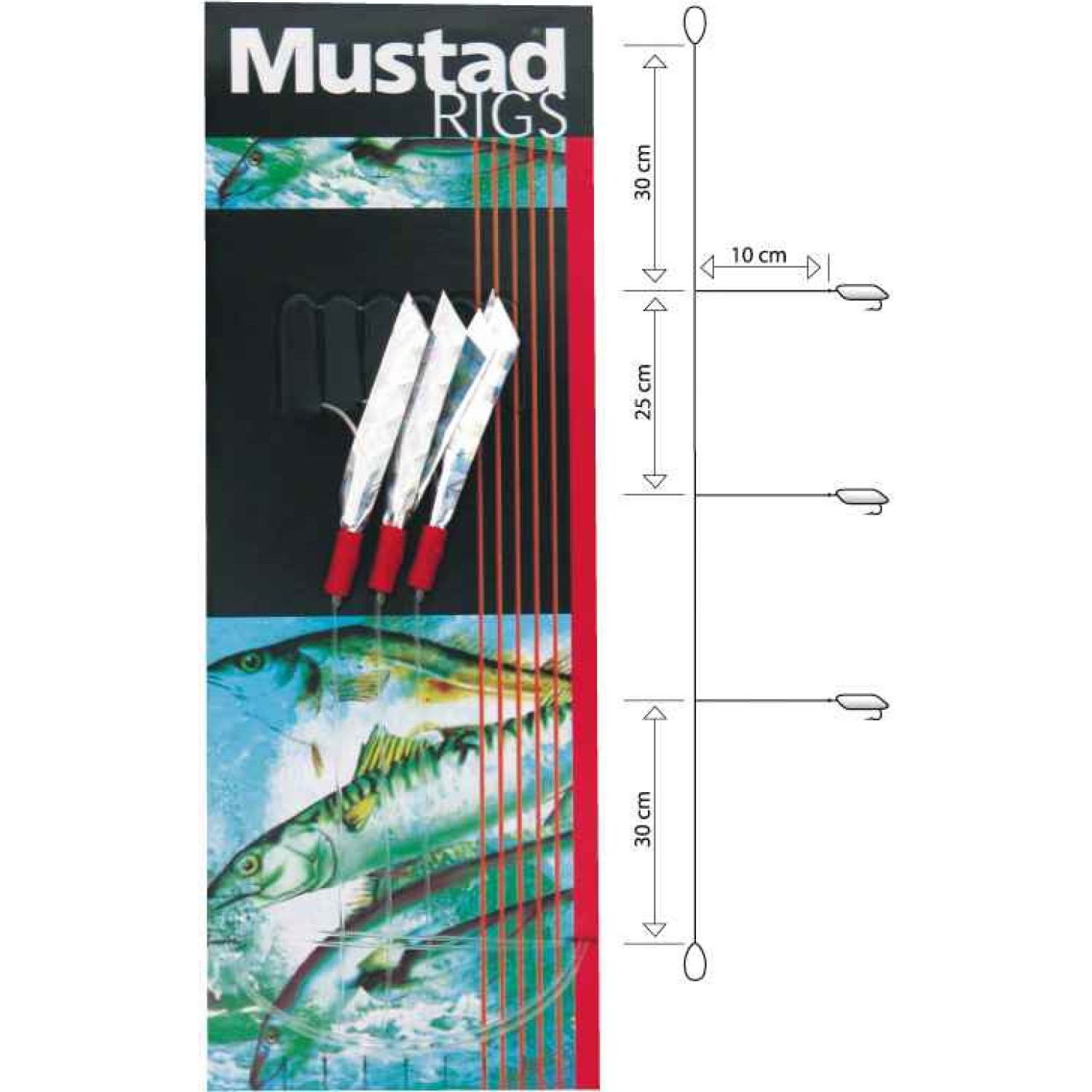 Mustad Sea Flector Mackerel Trace 1/0